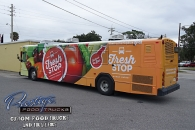 custom food truck builder manufacturer vending mobile concessions trailer prestige trucks - the fresh bus stop #4