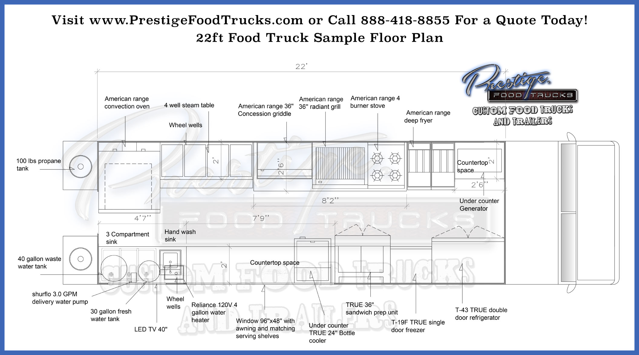 Custom Food Truck Floor Plan Samples Prestige Custom