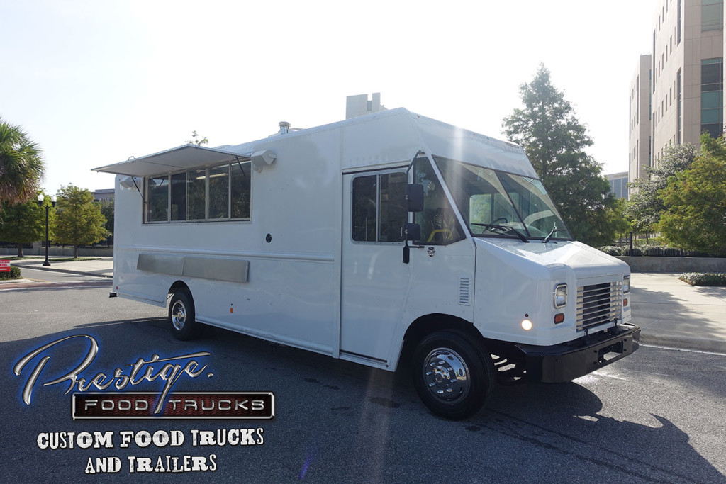 white mobile kitchen