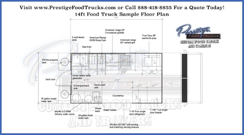 food truck floor plan schematic