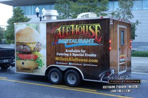 Ale House Restaurant food trailer with burger graphics